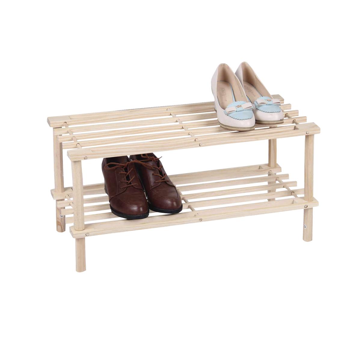 Полочка для обуви деревянная МД 2 уровня UC09994 разборная