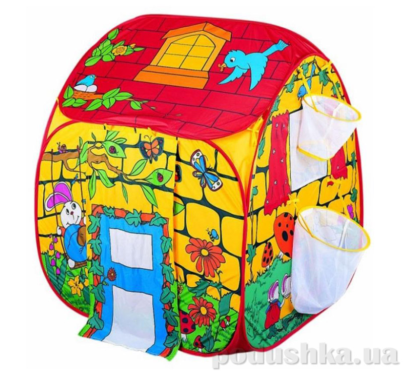 Волшебный домик с корзинами для мячей палатка Devik play joy T0302BCP