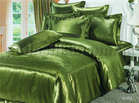 Постельное белье ARYA Green атлас