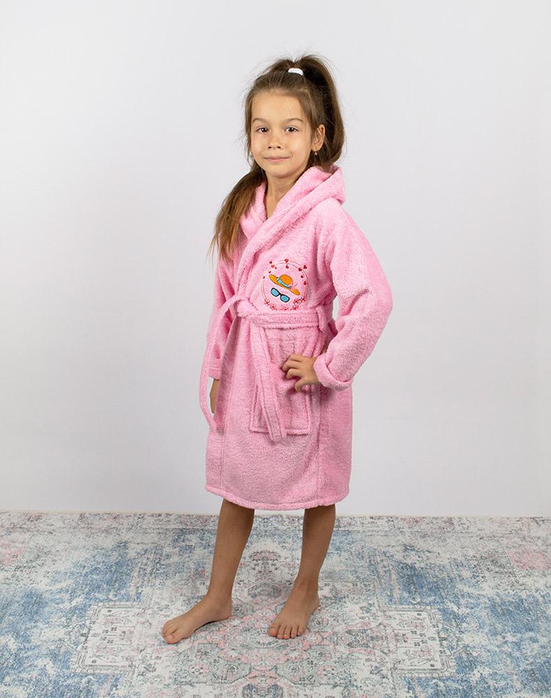 Халат детский розовый для девочки