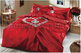 Постельное белье TAC Diana красный