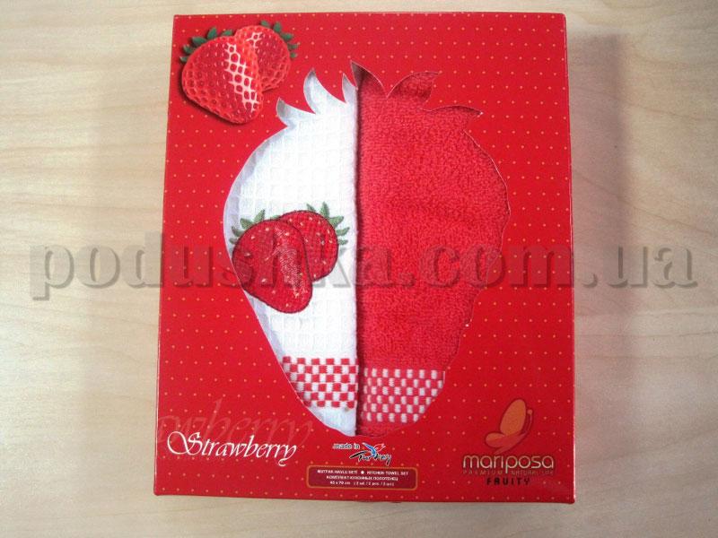 Набор кухонных полотенец Mariposa Клубника 016
