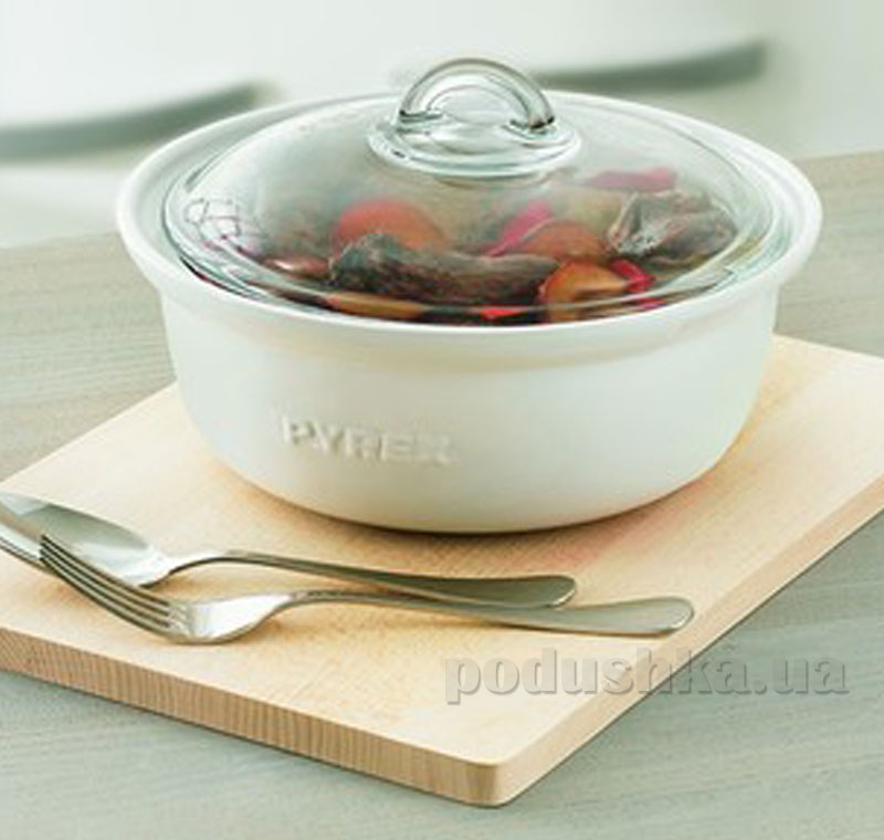 Кастрюля Pyrex Impressions круглая 1,5 л IC1RC20   PYREX