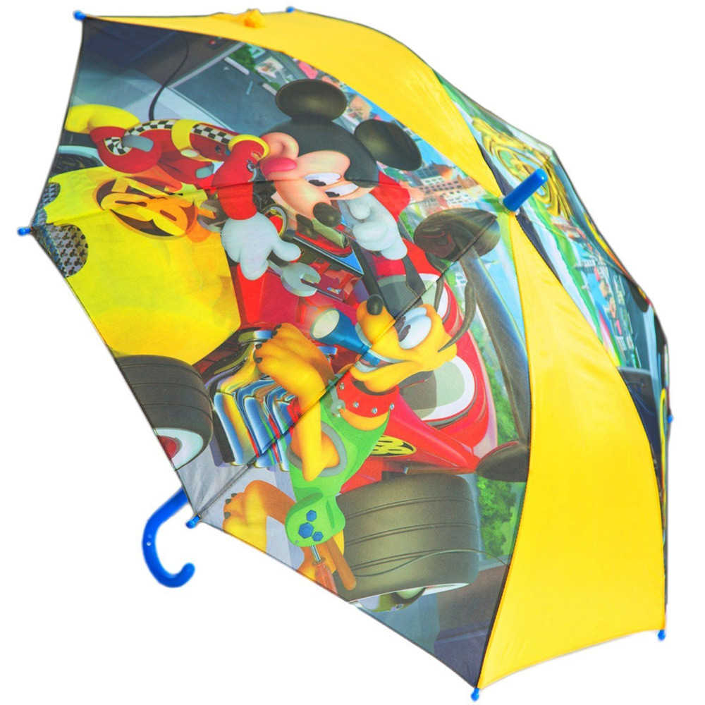 Зонт полуавтомат Микки и веселые гонки Disney (Arditex) желтый WD11606 yellow