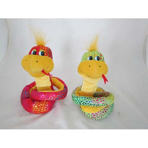 Мягкая игрушка - Змейка блестящая Большая (муз., 80 см)