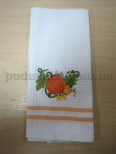 Полотенце кухонное вафельное Remzi Тыква