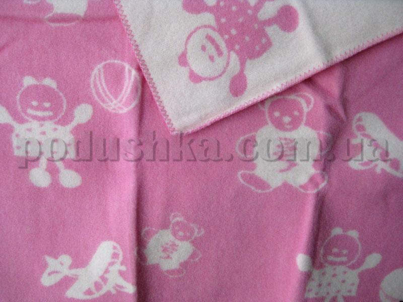 Одеяло детское Klippan Saule Куклы (розово-белое)