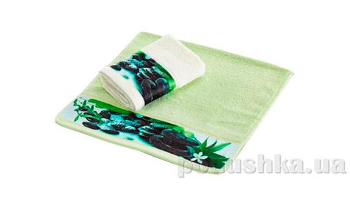 Махровое полотенце Романтика Релакс светло-зеленое