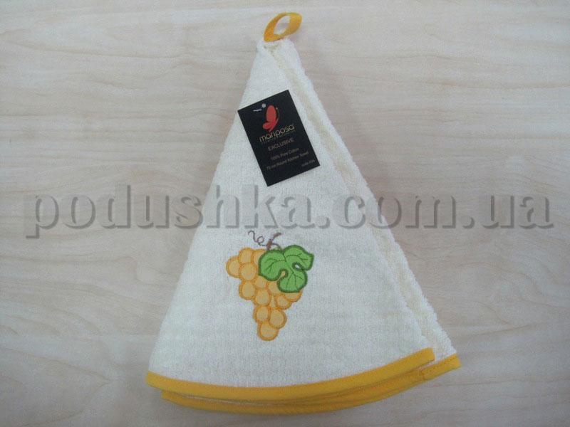 Полотенце махровое кухонное круглое Mariposa Виноград желтый