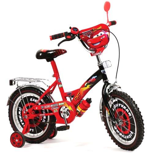 Велосипед детский 2-х колесный Машинки