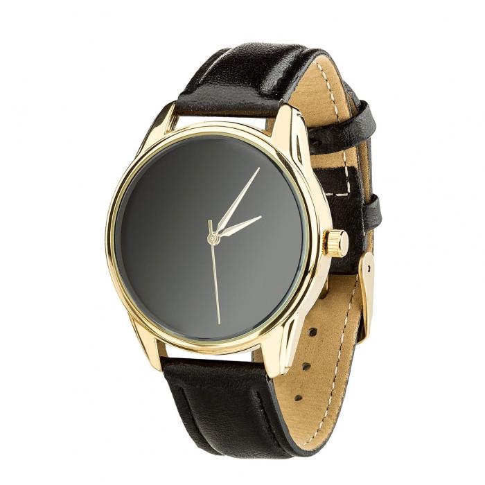 Часы ZIZ Минимализм черный золото - второй ремешок в подарок 4600469