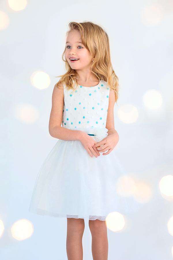 Платье нарядное для девочки Модный карапуз 03-00688-1 белое
