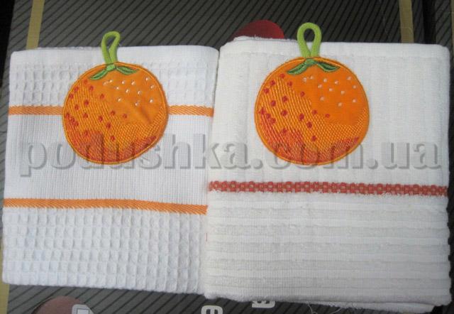 Набор кухонных полотенец Mariposa Апельсин (вафельное и махровое)