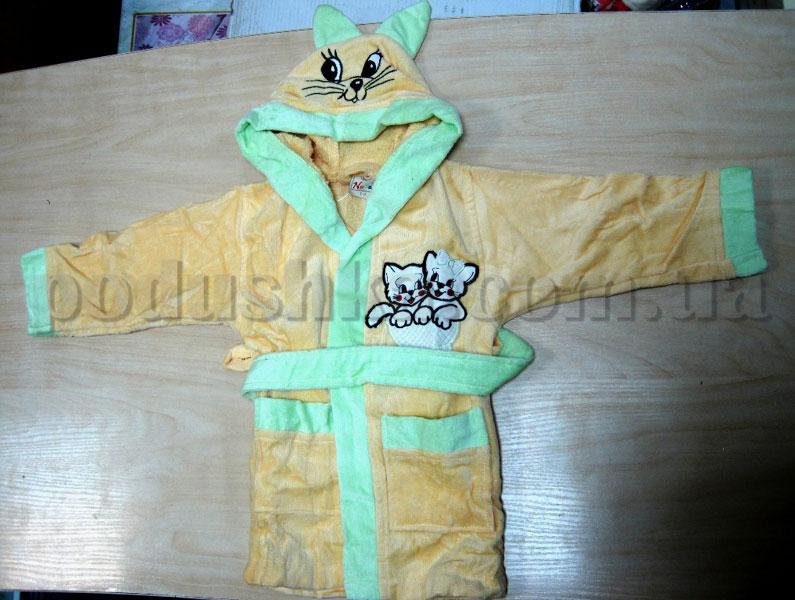 Халат детский Nusa 1-2 года желтый