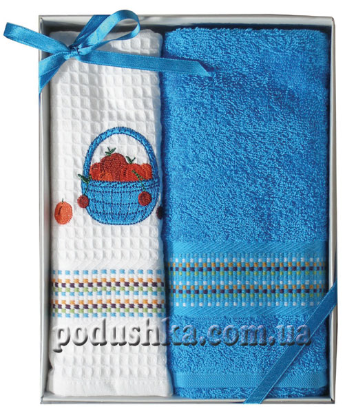 Набор полотенец PAVIA кухня вышивка Mavi