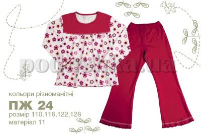 Пижама детская с рисунком Бемби ПЖ24 интерлок
