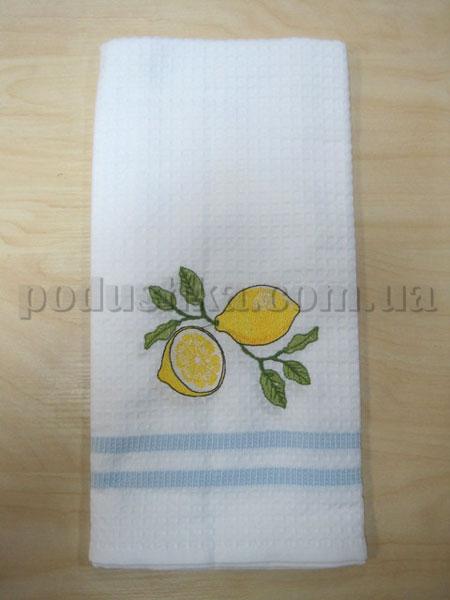 Полотенце кухонное вафельное Remzi Лимон и пол лимона