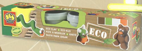 Незасыхающая масса для лепки серии Эко - натуральные цвета (4 цвета)