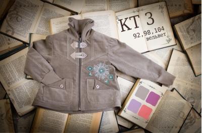 Куртка детская с рисунком (вельвет) КТ3
