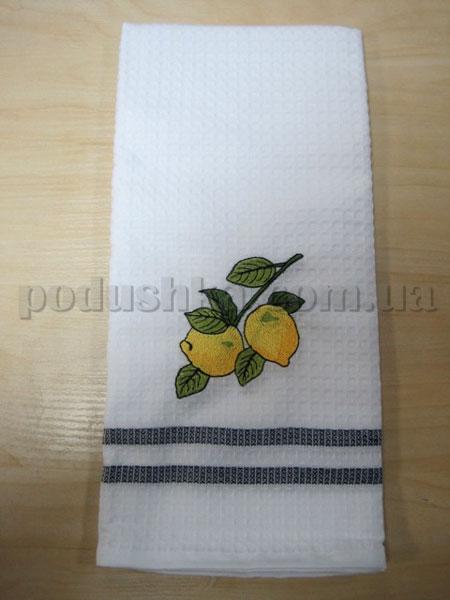 Полотенце кухонное вафельное Remzi Лимоны