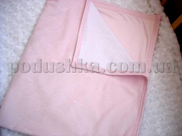 Плед детский Руно 324 велюр розовый