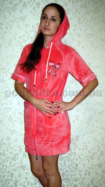 Халат женский короткий с капюшоном Nusa NS-00590