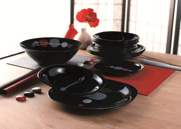 Сервиз столовый Luminarc KYOKO Black 19 предметов