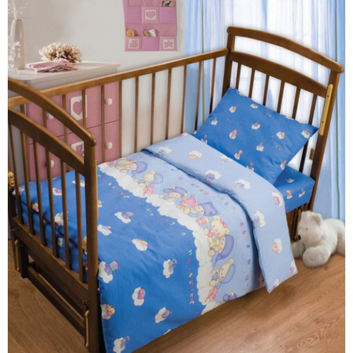 Постельное белье в кроватку Мишка на облаке