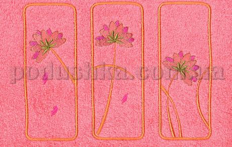 Полотенце махровое с вышивкой Унисон Pinks кораловый