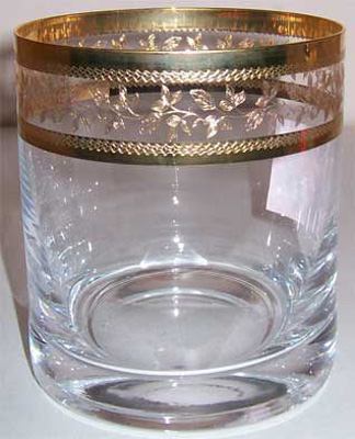 Стаканы для виски Barline GOLD 280мл Bohemia