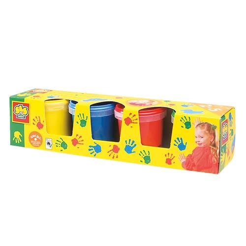 Пальчиковые краски серии Эко - Мои первые рисунки 4 цвета, в пластиковых баночках