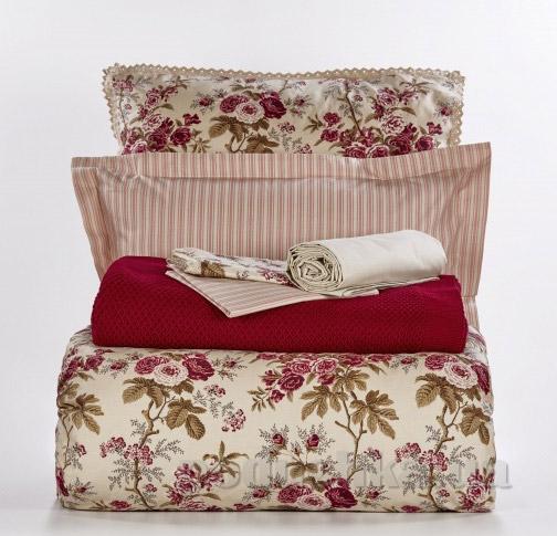 Постельное белье с пледом Karaca Destine Двуспальный евро комплект с пледом  Karaca home