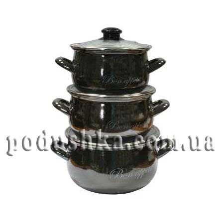 Набор посуды 3 предмета BON APPETIT (черный)