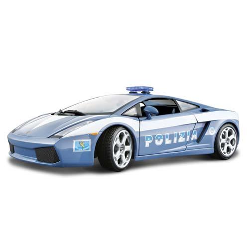 Автомодель - Lamborghini Gallardo Polizia (голубой, 1:24)