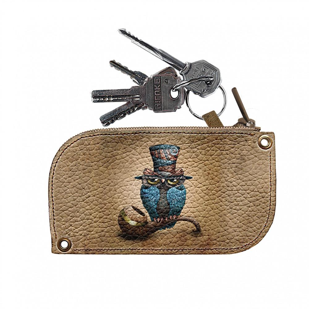 Ключница кожаная Devays Maker Сова на трубке 8х14 см 10-01-427