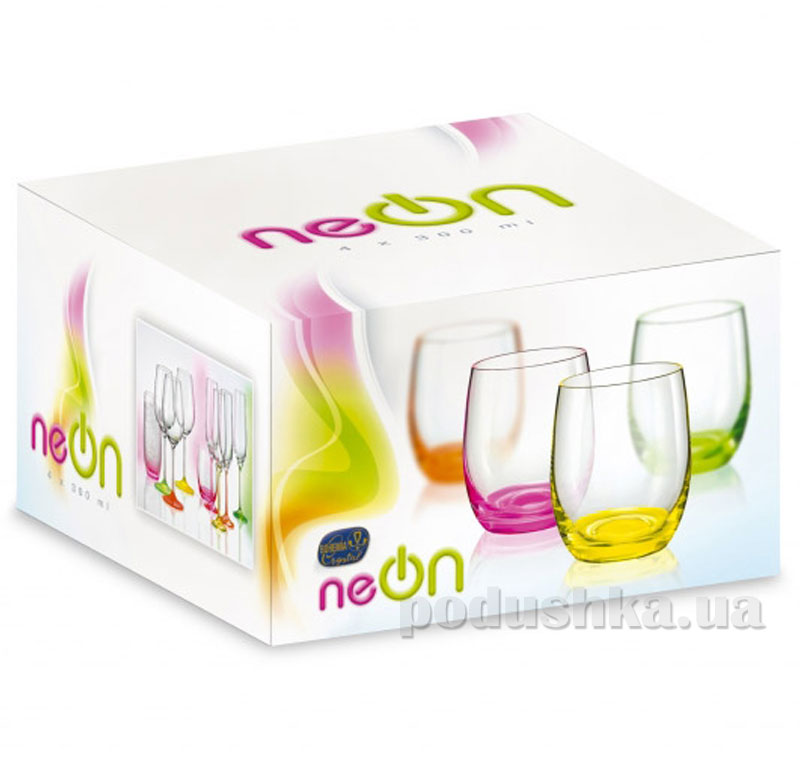 Набор стаканов Bohemia Neon Frozen 300 мл 4 шт. D4939   Bohemia