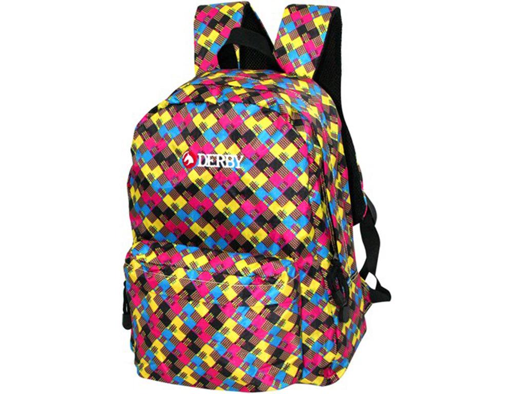 Классический рюкзак Derby 0170359 с узором-квадратиками