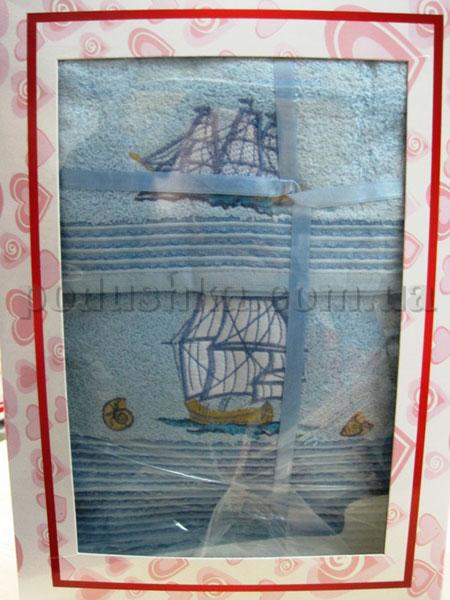 Набор махровых полотенец Mariposa Корабли голубые