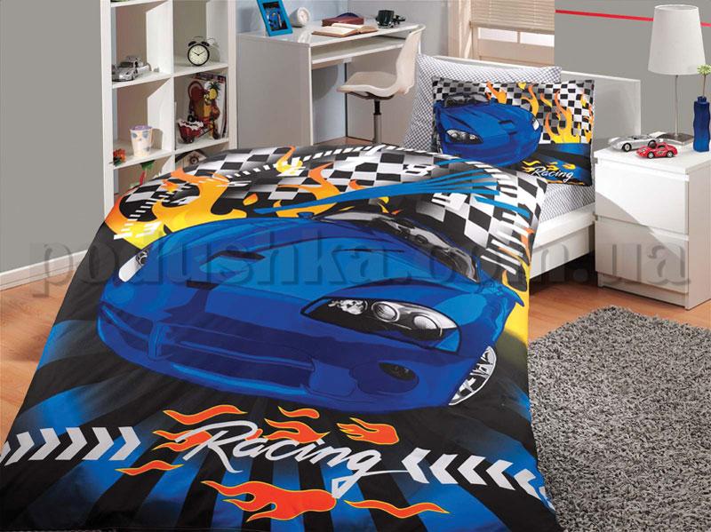 Постельное белье Hobby Car Racing синий