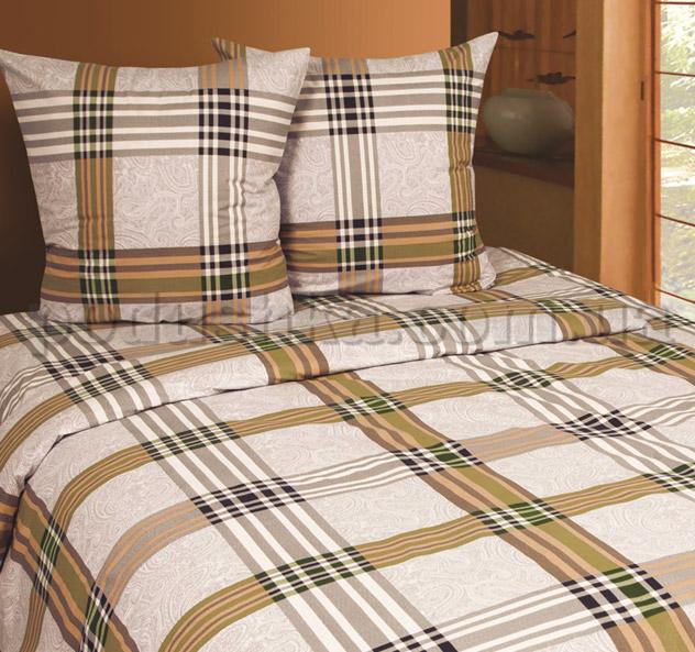 Постельное белье Belle Textile Scotch коричневый