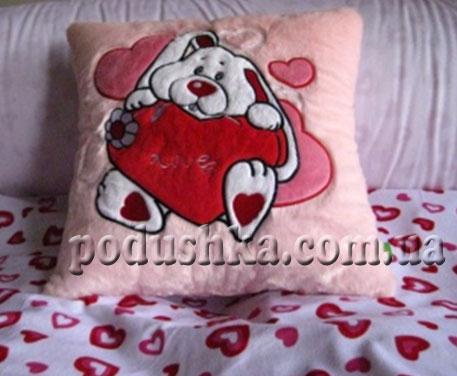 Подушка Кролик с сердечком