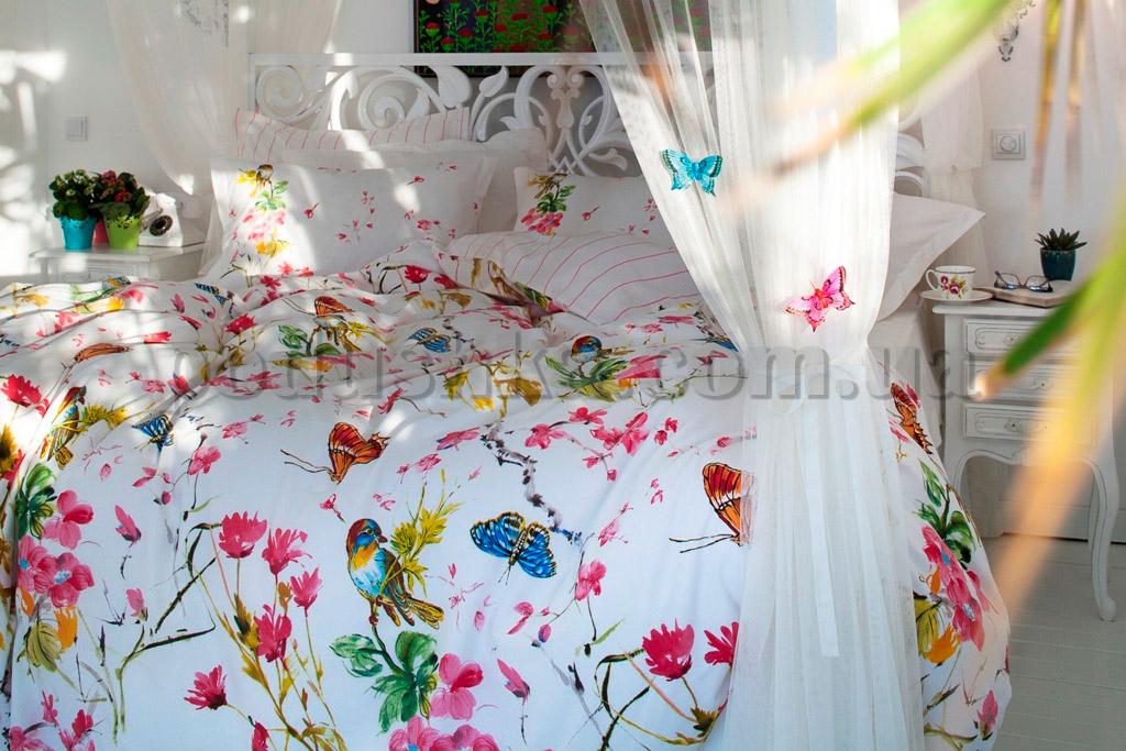 Постельное белье с покрывалом Karaca Lenka белый