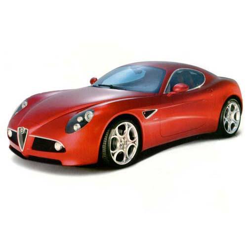 Автомодель - Alfa 8C Competizione (2007) (красный, 1:18)