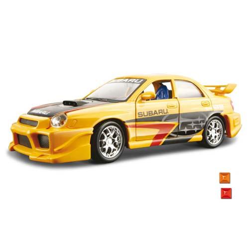 Автомодель - Subaru Impreza WRX STI (ассорти синий, желтый, 1:24)