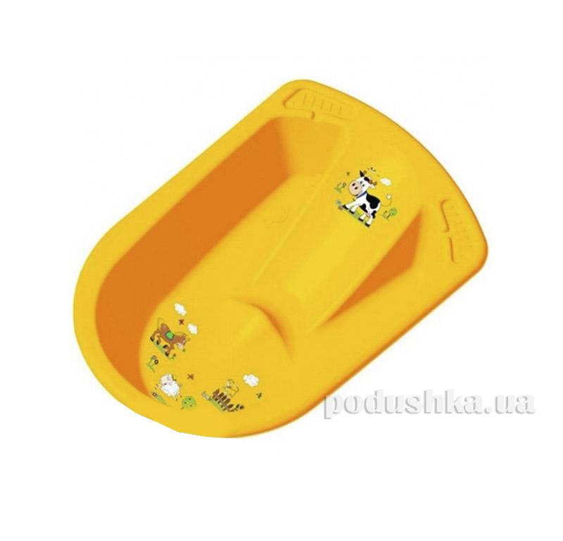 Анатомическая ванночка Funny Farm желтая Prima Baby 8719.456