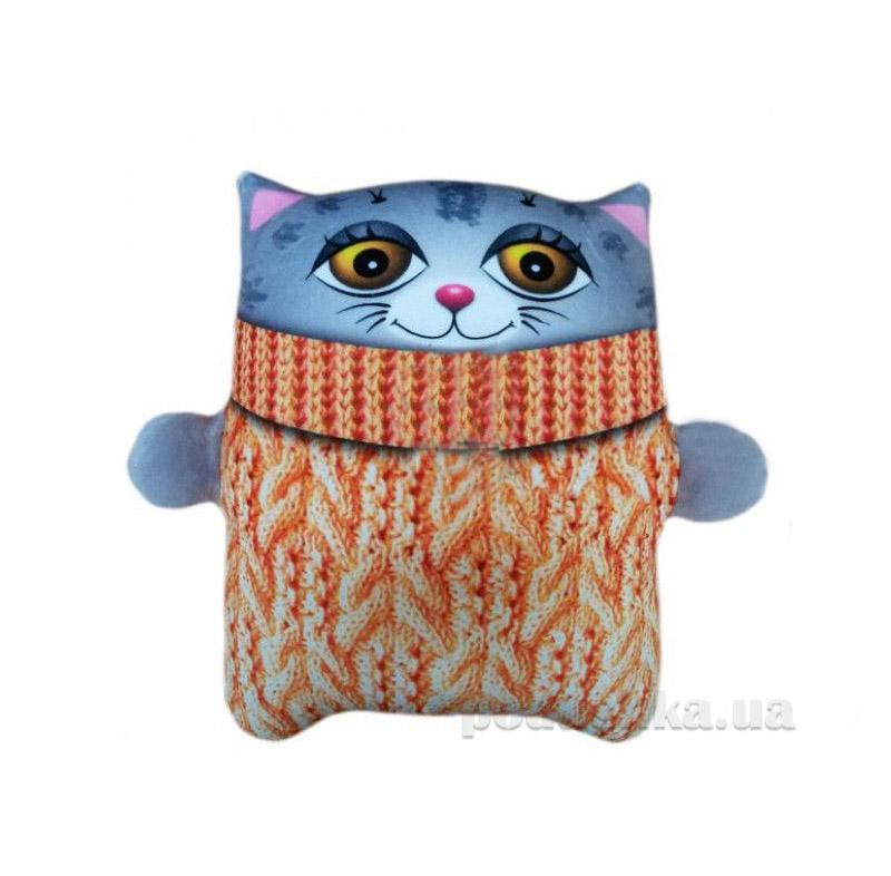 Антистрессовая игрушка Штучки Коты Зяблики серый