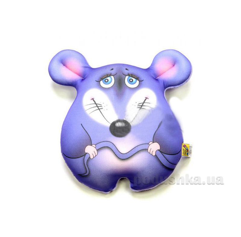 Антистрессовая игрушка Штучки Мышка стесняшка фиолетовая