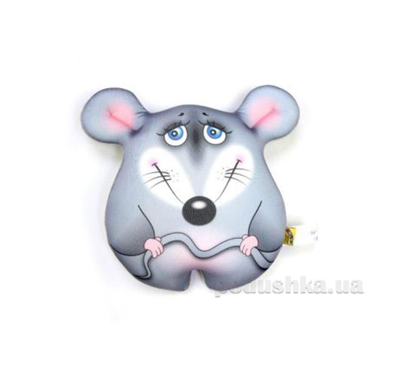 Антистрессовая игрушка Штучки Мышка стесняшка серая