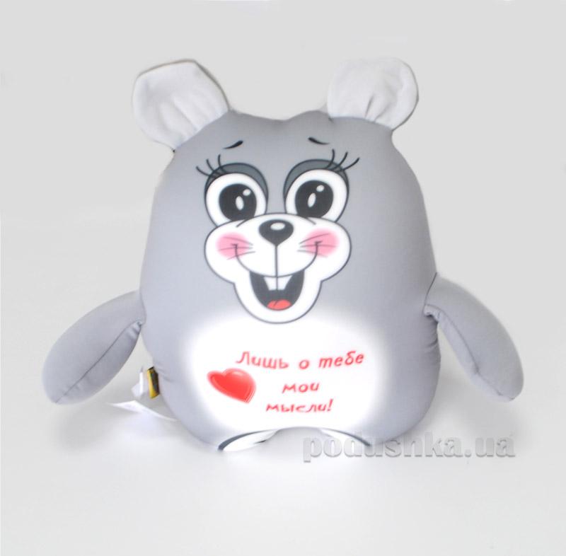 Антистрессовая игрушка Штучки Трогательная мышка серая