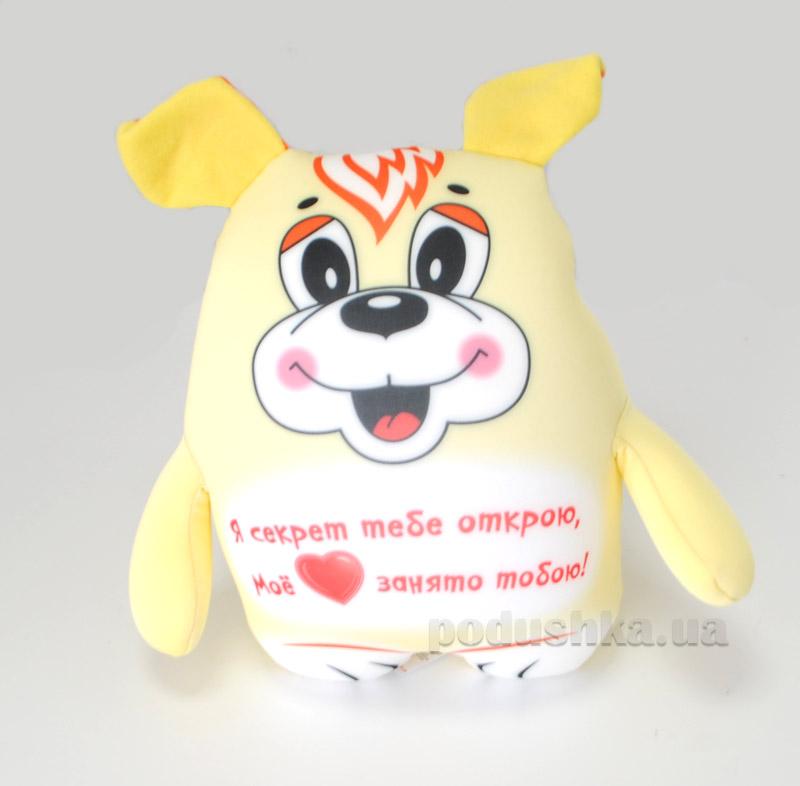 Антистрессовая игрушка Штучки Трогательная собачка желтая